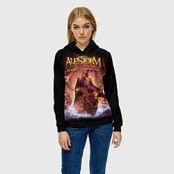 Толстовка-худи женская Alestorm: Golden Ship цвета 3D-черный — фото 2