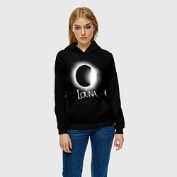 Толстовка-худи женская Louna цвета 3D-черный — фото 2