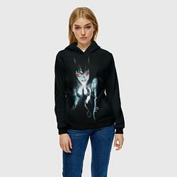 Толстовка-худи женская Catwoman цвета 3D-черный — фото 2