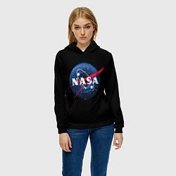 Толстовка-худи женская NASA Black Hole цвета 3D-черный — фото 2