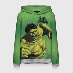 Толстовка-худи женская Hulk цвета 3D-меланж — фото 1