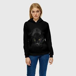 Толстовка-худи женская Пантера цвета 3D-черный — фото 2