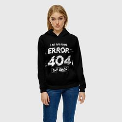 Толстовка-худи женская ERROR 404 цвета 3D-черный — фото 2
