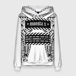 Толстовка-худи женская Monsta X цвета 3D-белый — фото 1