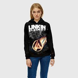 Толстовка-худи женская Linkin Park: Comet цвета 3D-черный — фото 2