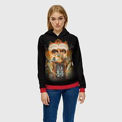 Толстовка-худи женская Michael Jackson Show цвета 3D-красный — фото 2