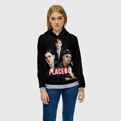 Толстовка-худи женская Placebo Guys цвета 3D-меланж — фото 2