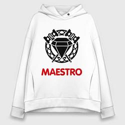 Толстовка оверсайз женская Dwarf Fighter - Maestro цвета белый — фото 1