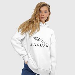 Толстовка оверсайз женская Jaguar цвета белый — фото 2