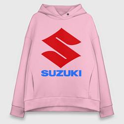 Толстовка оверсайз женская Suzuki цвета светло-розовый — фото 1