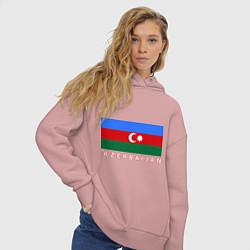 Толстовка оверсайз женская Азербайджан цвета пыльно-розовый — фото 2