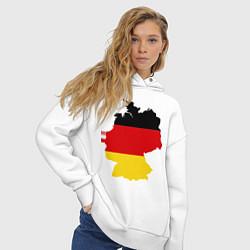 Толстовка оверсайз женская Германия (Germany) цвета белый — фото 2