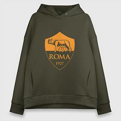 Толстовка оверсайз женская AS Roma: Autumn Top цвета хаки — фото 1