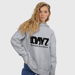 Толстовка оверсайз женская DayZ: Slay Survive цвета меланж — фото 2