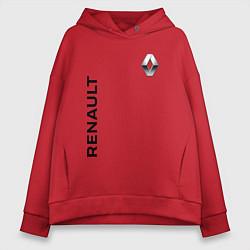 Толстовка оверсайз женская Renault Style цвета красный — фото 1