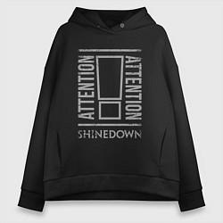 Толстовка оверсайз женская Attention Shinedown цвета черный — фото 1