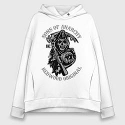 Толстовка оверсайз женская Sons of Anarchy: Redwood Original цвета белый — фото 1