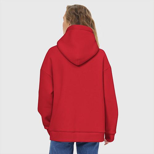 Женское худи оверсайз Да, я с ней / Красный – фото 4