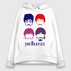 Женское худи оверсайз The Beatles faces