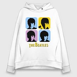 Женское худи оверсайз The Beatles: pop-art