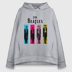 Женское худи оверсайз Walking Beatles