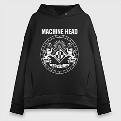 Толстовка оверсайз женская Machine Head MCMXCII цвета черный — фото 1