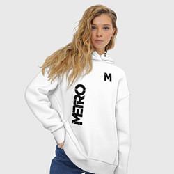 Толстовка оверсайз женская METRO M цвета белый — фото 2