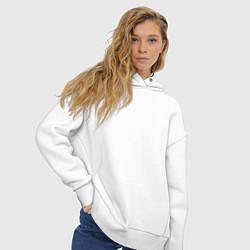 Толстовка оверсайз женская MSU цвета белый — фото 2