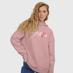 Толстовка оверсайз женская STRAY KIDS FELIX цвета пыльно-розовый — фото 2