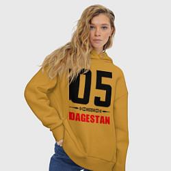 Толстовка оверсайз женская 05 Dagestan цвета горчичный — фото 2