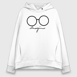 Толстовка оверсайз женская Imagine John Lennon цвета белый — фото 1