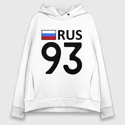 Толстовка оверсайз женская RUS 93 цвета белый — фото 1