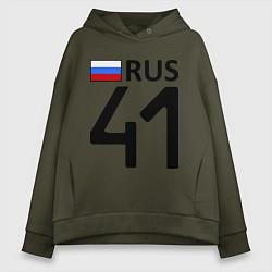 Толстовка оверсайз женская RUS 41 цвета хаки — фото 1