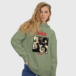Толстовка оверсайз женская The Beatles LET IT BE цвета авокадо — фото 2