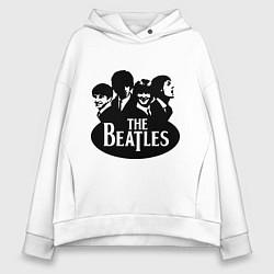 Толстовка оверсайз женская The Beatles Band цвета белый — фото 1