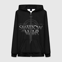 Толстовка на молнии женская Shadow of War цвета 3D-черный — фото 1