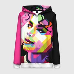 Женская толстовка на молнии Michael Jackson Art