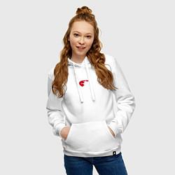 Толстовка-худи хлопковая женская TEAM EL CUCUY цвета белый — фото 2