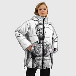 Женская зимняя 3D-куртка с капюшоном с принтом Конор Макгрегор, цвет: 3D-черный, артикул: 10102383506071 — фото 2