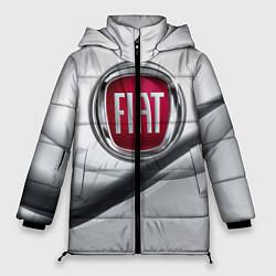 Женская зимняя 3D-куртка с капюшоном с принтом FIAT, цвет: 3D-черный, артикул: 10106631206071 — фото 1