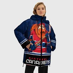 Женская зимняя 3D-куртка с капюшоном с принтом Montreal Canadiens, цвет: 3D-черный, артикул: 10106980106071 — фото 2