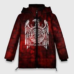 Женская зимняя 3D-куртка с капюшоном с принтом Slayer: Blooded Eagle, цвет: 3D-черный, артикул: 10109345006071 — фото 1
