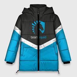 Женская зимняя 3D-куртка с капюшоном с принтом Team Liquid Uniform, цвет: 3D-черный, артикул: 10111391006071 — фото 1