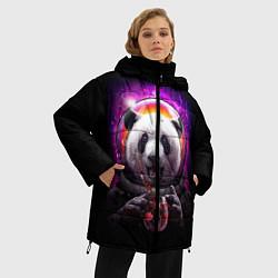 Куртка зимняя женская Panda Cosmonaut цвета 3D-черный — фото 2