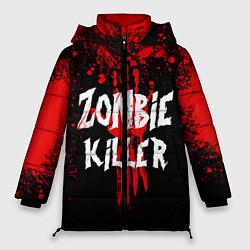 Женская зимняя 3D-куртка с капюшоном с принтом Zombie Killer, цвет: 3D-черный, артикул: 10112165606071 — фото 1