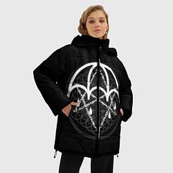 Женская зимняя 3D-куртка с капюшоном с принтом BMTH: Rain Symbol, цвет: 3D-черный, артикул: 10112867606071 — фото 2