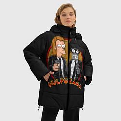 Женская зимняя 3D-куртка с капюшоном с принтом Pulporama, цвет: 3D-черный, артикул: 10113801506071 — фото 2
