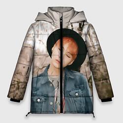 Женская зимняя 3D-куртка с капюшоном с принтом Min Yoon Gi, цвет: 3D-черный, артикул: 10114633406071 — фото 1