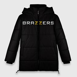 Женская зимняя 3D-куртка с капюшоном с принтом Brazzers, цвет: 3D-черный, артикул: 10114763906071 — фото 1