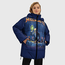 Женская зимняя 3D-куртка с капюшоном с принтом Megadeth: Rust In Peace, цвет: 3D-черный, артикул: 10118735606071 — фото 2